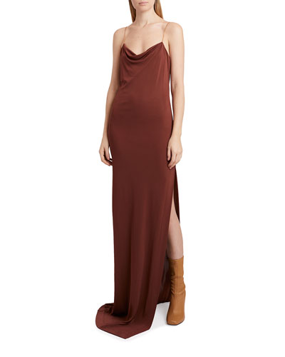 Cowl-Neck Slip Dress
