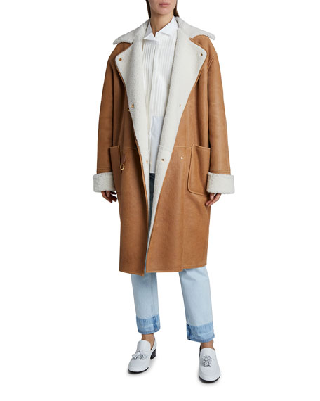 Loewe Oversized Shearling Leather Coat