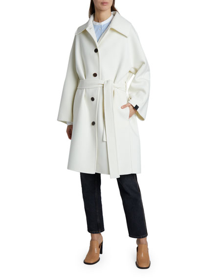 Loewe Belted Wool-Cashmere Coat