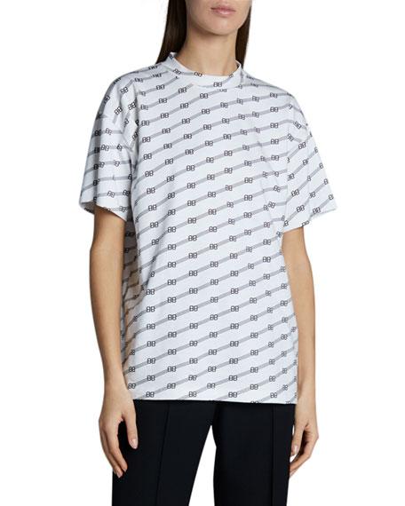 Balenciaga Vintage Jersey Logo T-Shirt