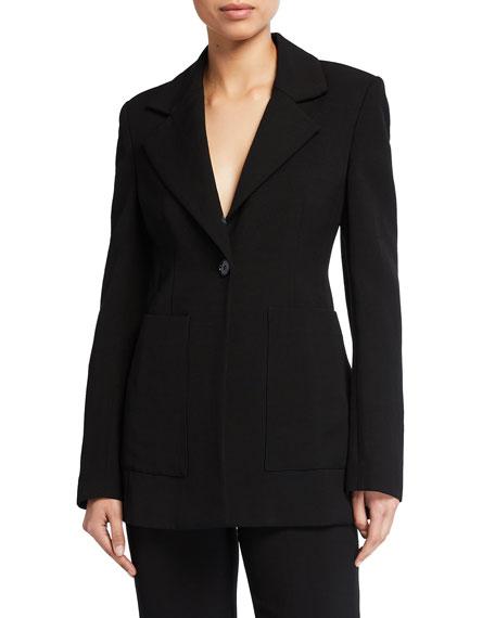 Co Linen-Blend Blazer with Pockets