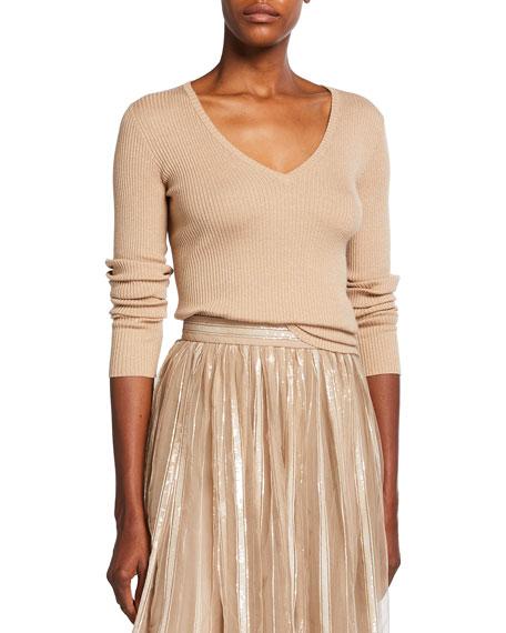 Brunello Cucinelli Lurex Cashmere-Blend Sweater