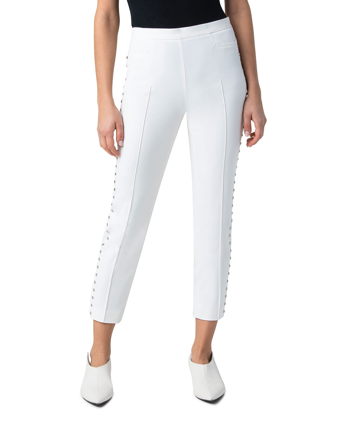 Franca Cotton Studded Cropped Pants