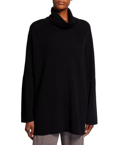 Eskandar Turtleneck Ribbed Silk-Cashmere Sweater