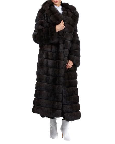 Gianfranco Ferre Horizontal Long Russian Sable Coat