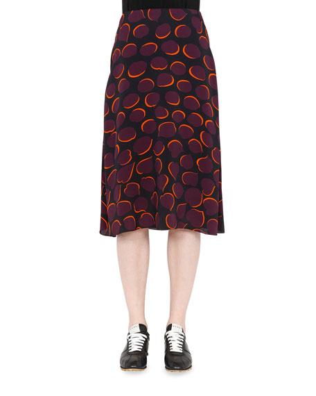 Marni Woven Printed A-Line Skirt