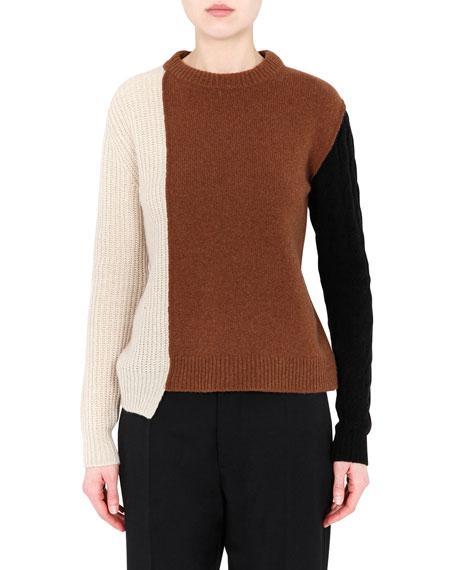 Marni Colorblock Cashmere-Blend Sweater