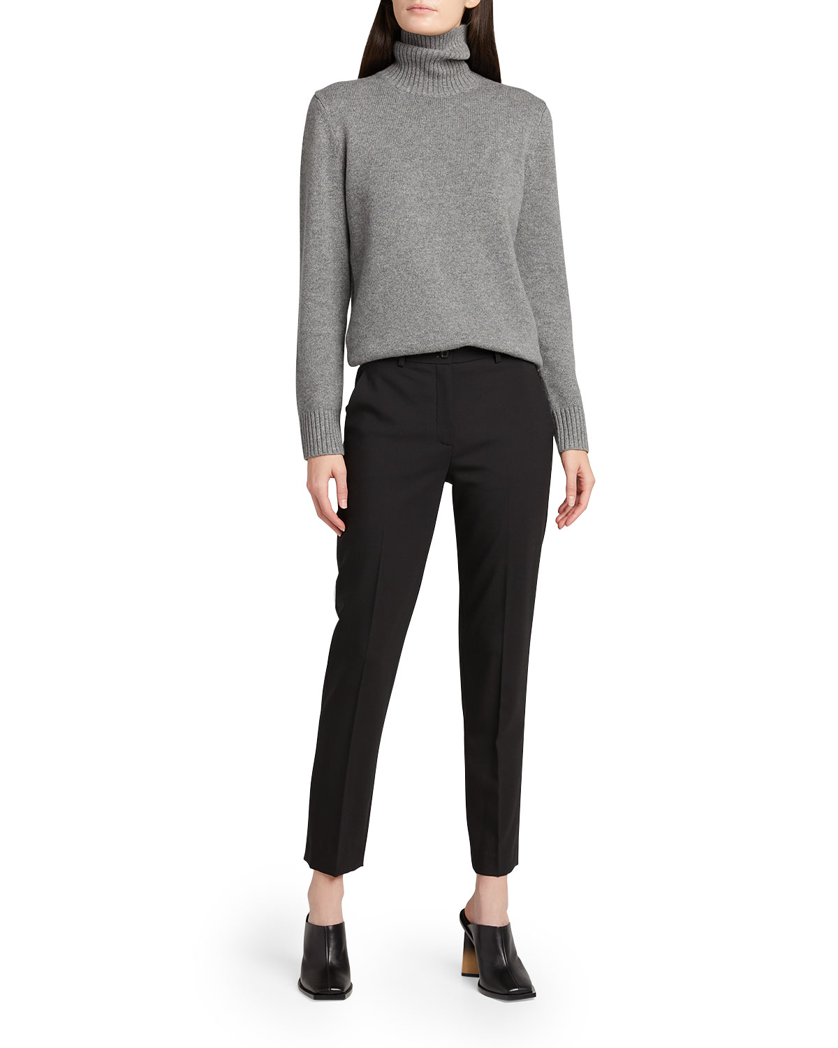 Michael Kors SAMANTHA SLIM-LEG WOOL ANKLE PANTS