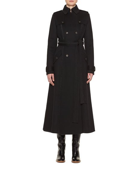 Gabriela Hearst Franz Knotted Cashmere Lace-Up Trench Coat