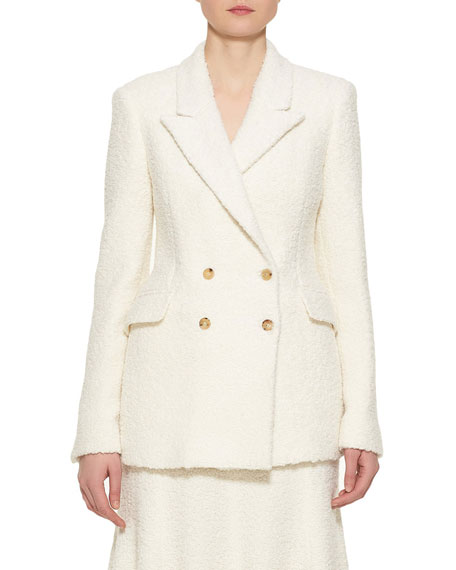 Gabriela Hearst Angela Double-Breasted Wool Blazer