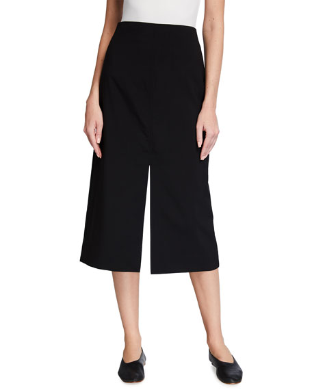 Co Wool Slit Midi Skirt