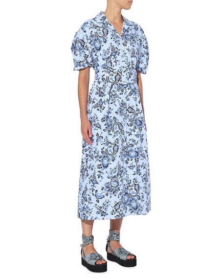 Erdem Floral-Print Midi Dress