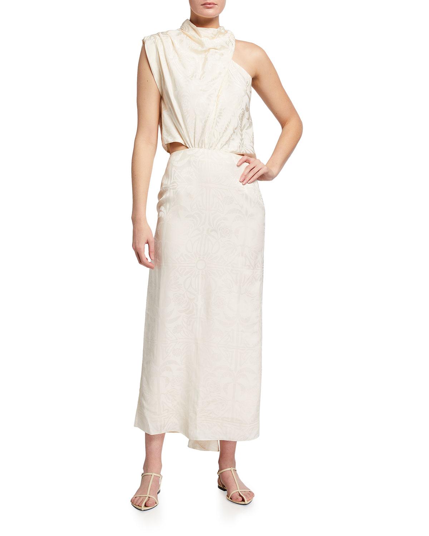 Finding Balance Asymmetric Jacquard Dress