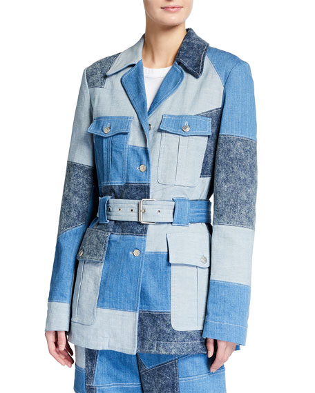 Stella McCartney Patchwork Safari Belted Jacket