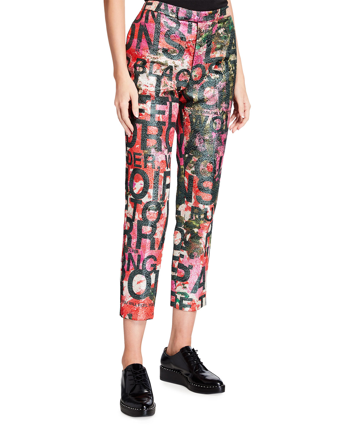 A Dream For Winter Abstract Motif Pants