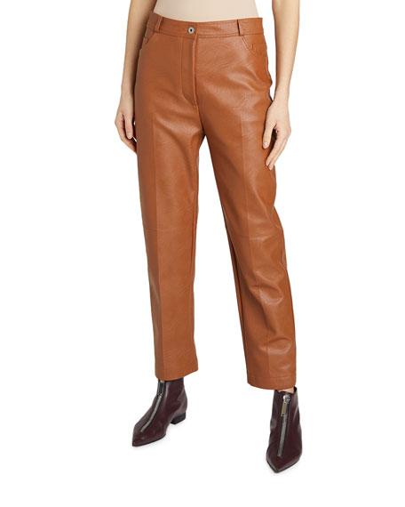 Stella McCartney Cropped Faux-Leather Pants
