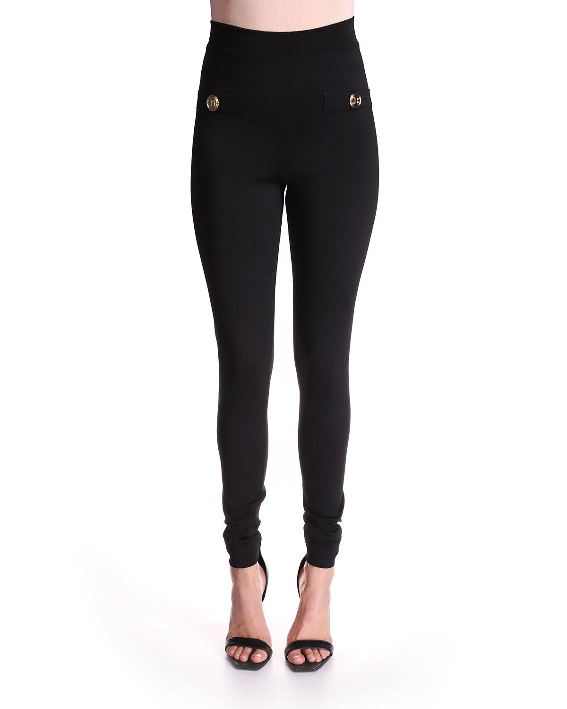 High Waist Back-Zip Leggings