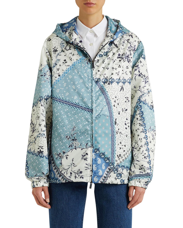 Patchwork Zip-Up Hooded Jacket
