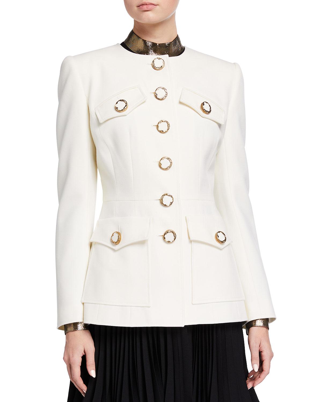 Wool Flap-Pocket Jacket