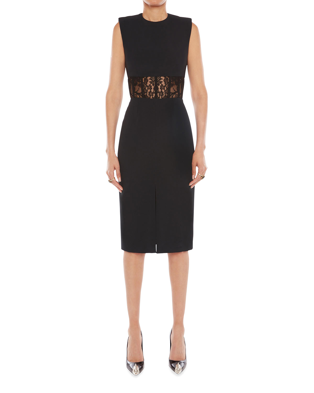 Sleeveless Lace Corset Midi Dress