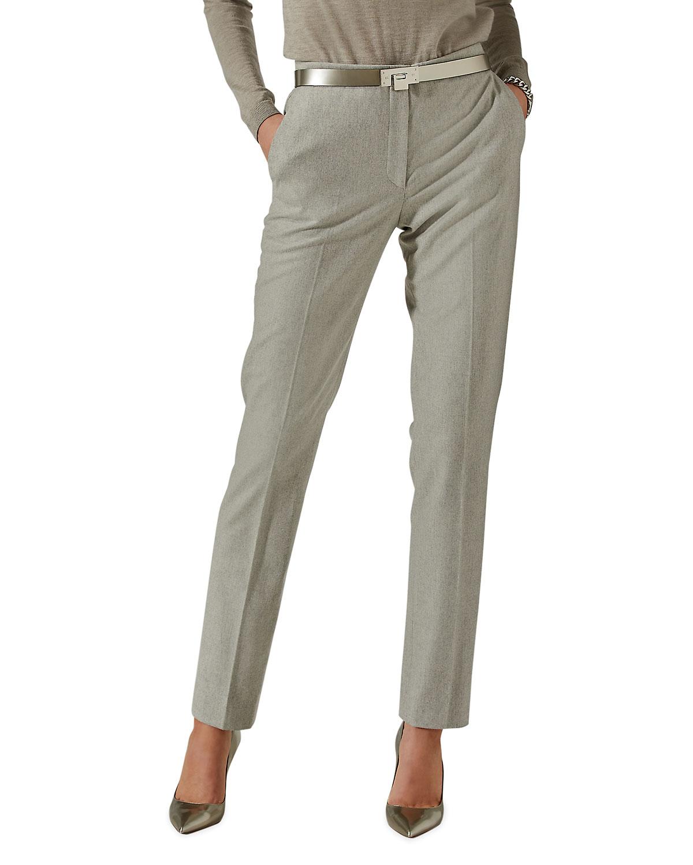 Ralph Lauren SIMONE STRAIGHT-LEG WOOL PANTS