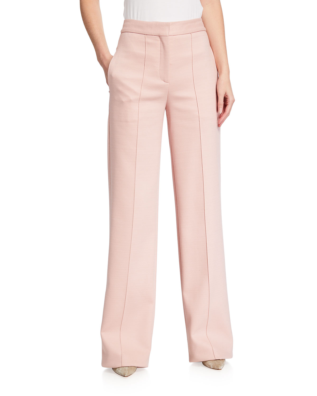 Pintuck Wide-leg Trousers