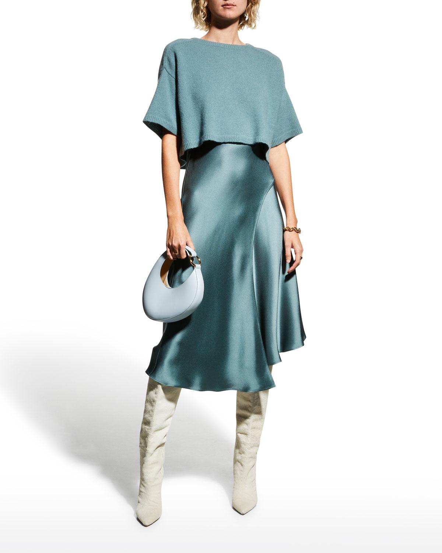 Cropped Cashmere-Silk Sweater