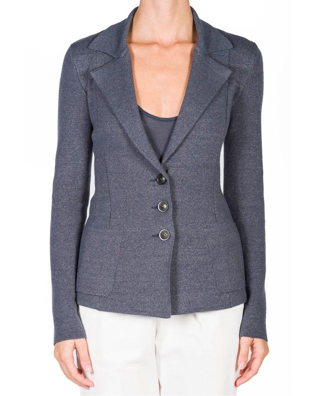 Seamed Cashmere-Linen Hourglass Jacket