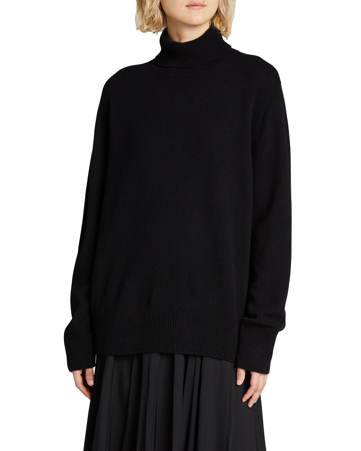 The Row STEPNY WOOL-CASHMERE TURTLENECK TOP