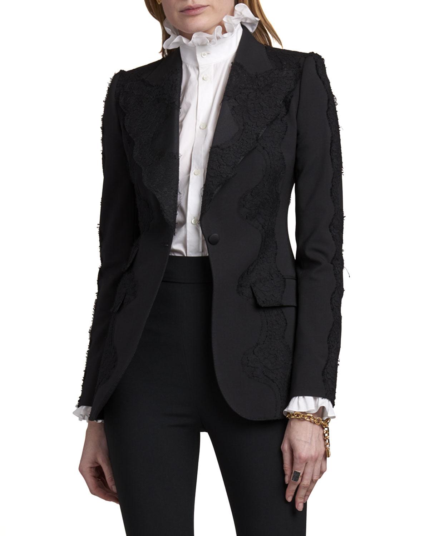 Dolce & Gabbana SINGLE-BREASTED LACE BLAZER