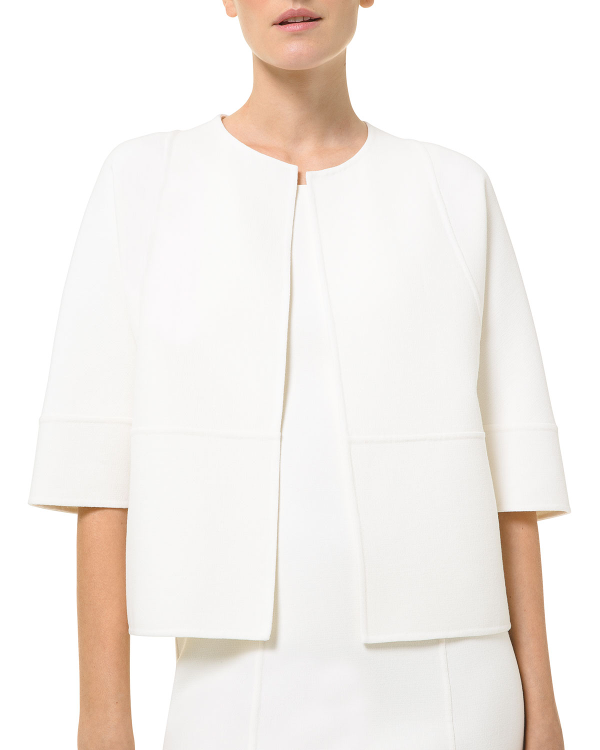 Michael Kors COOKIE DOLMAN-SLEEVE STRETCH WOOL-CREPE JACKET