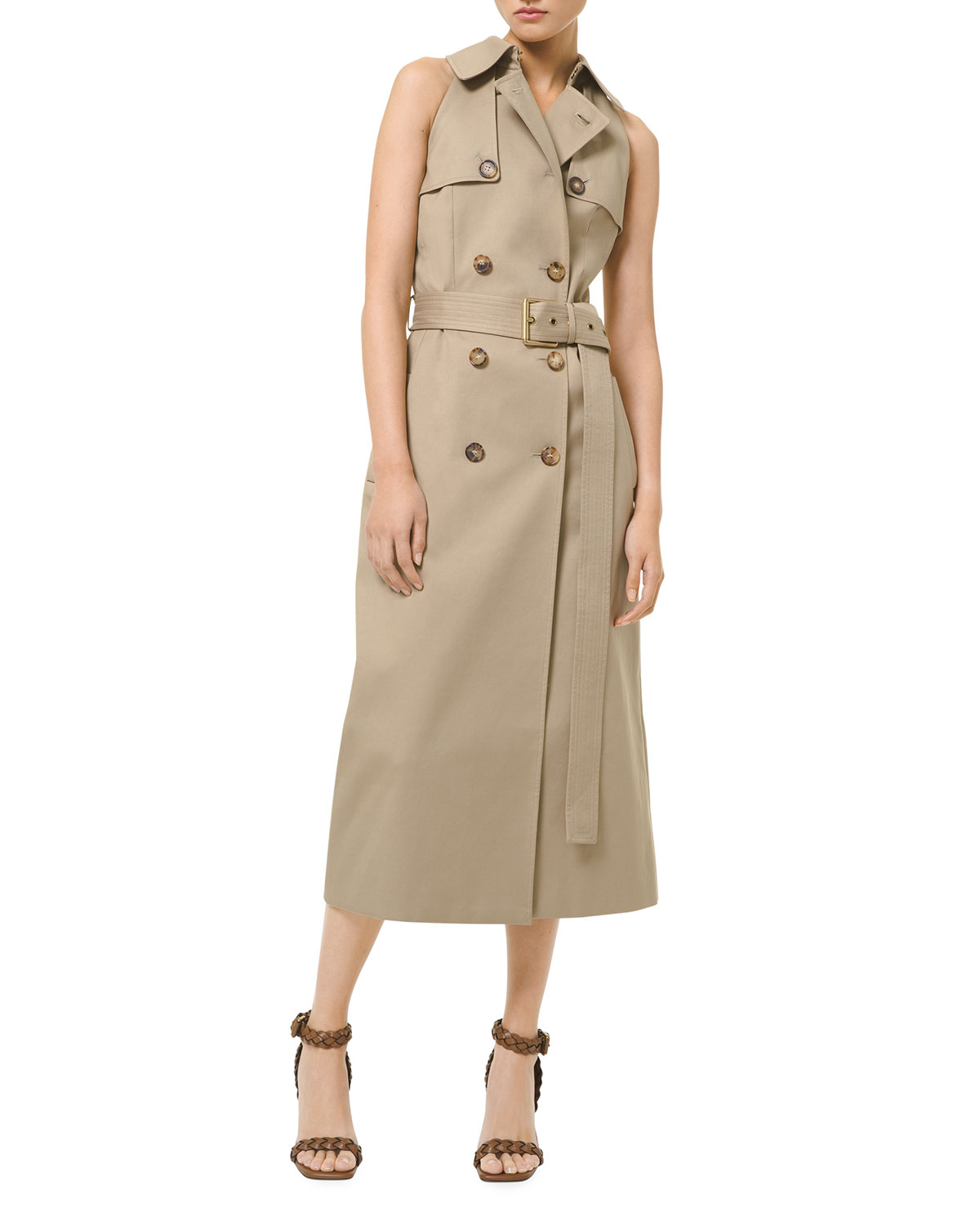 Michael Kors SLEEVELESS TRENCH SHEATH DRESS
