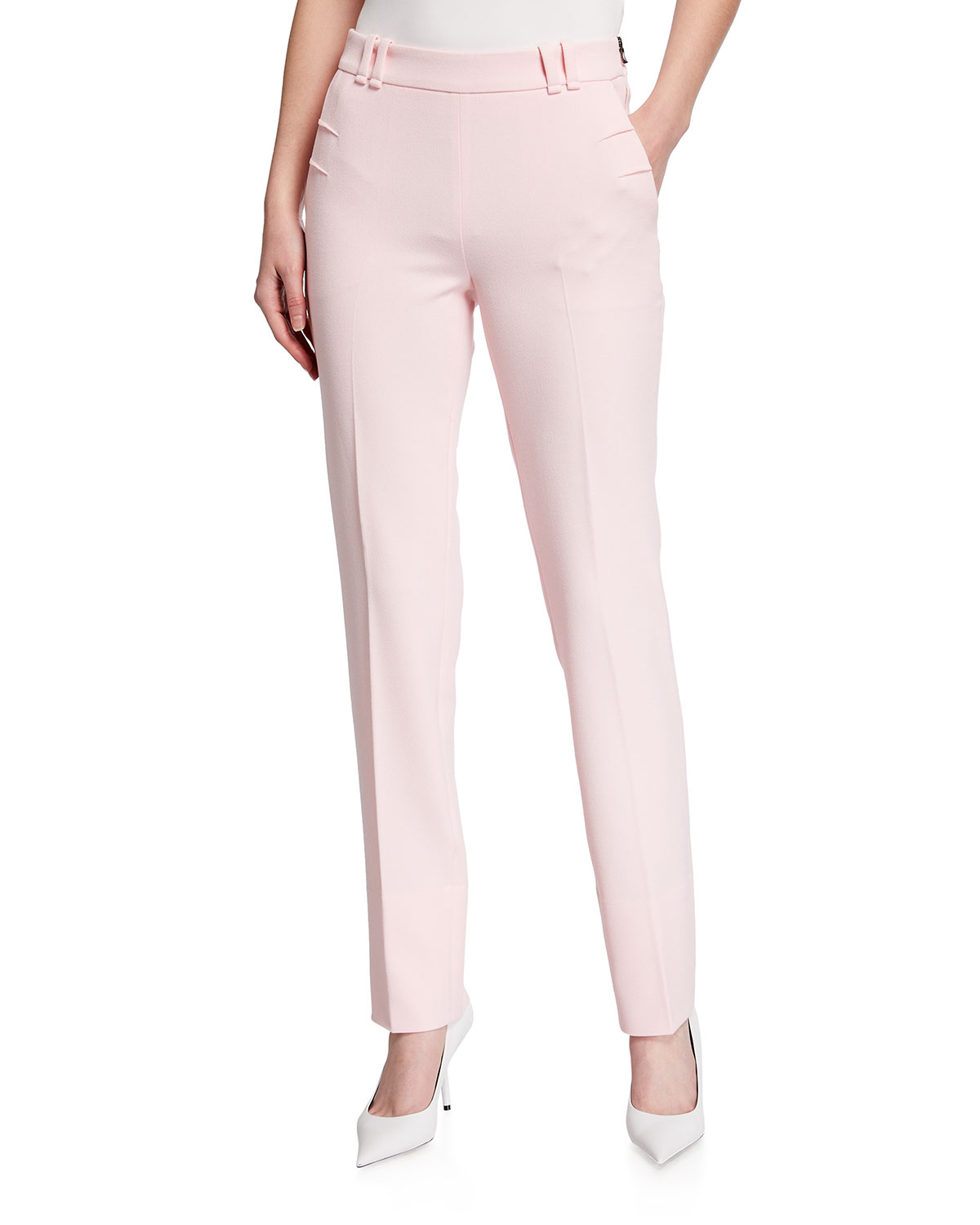 Roland Mouret DALL STRAIGHT-LEG CREPE TROUSERS