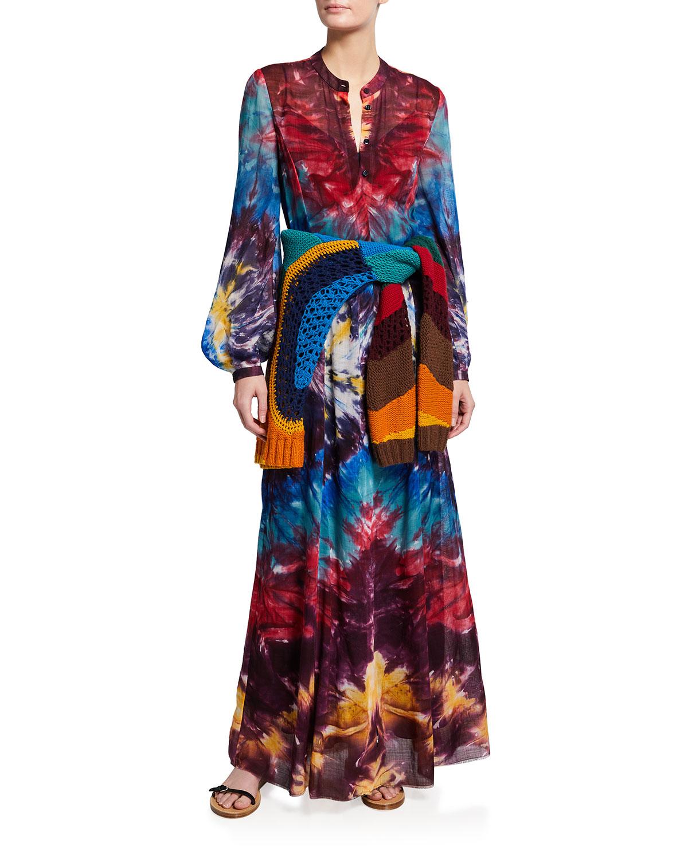 Massey Tie-Dye Maxi Dress