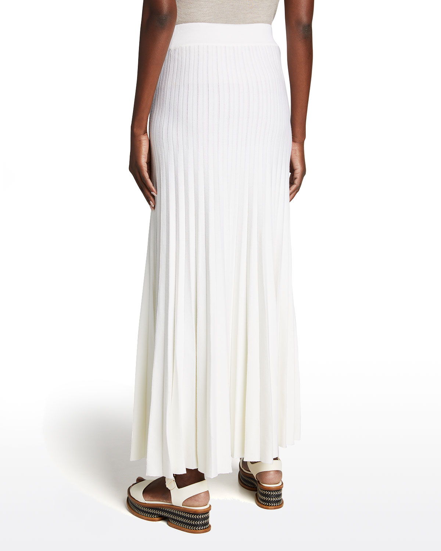 Dixie Pleated Wool Maxi Skirt