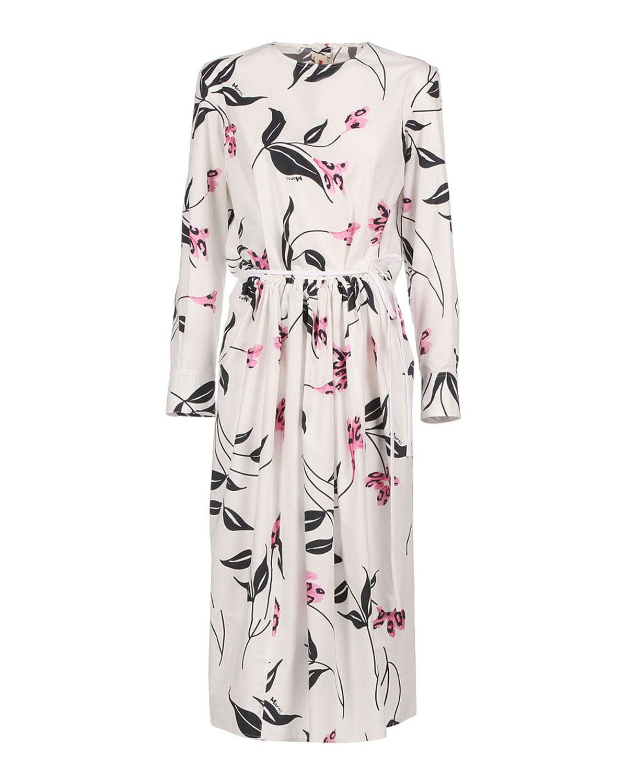 Leopard Flower-Print Poplin Dress