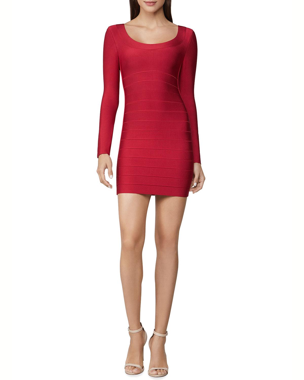 Icon Scoop-Neck Body-Con Mini Dress