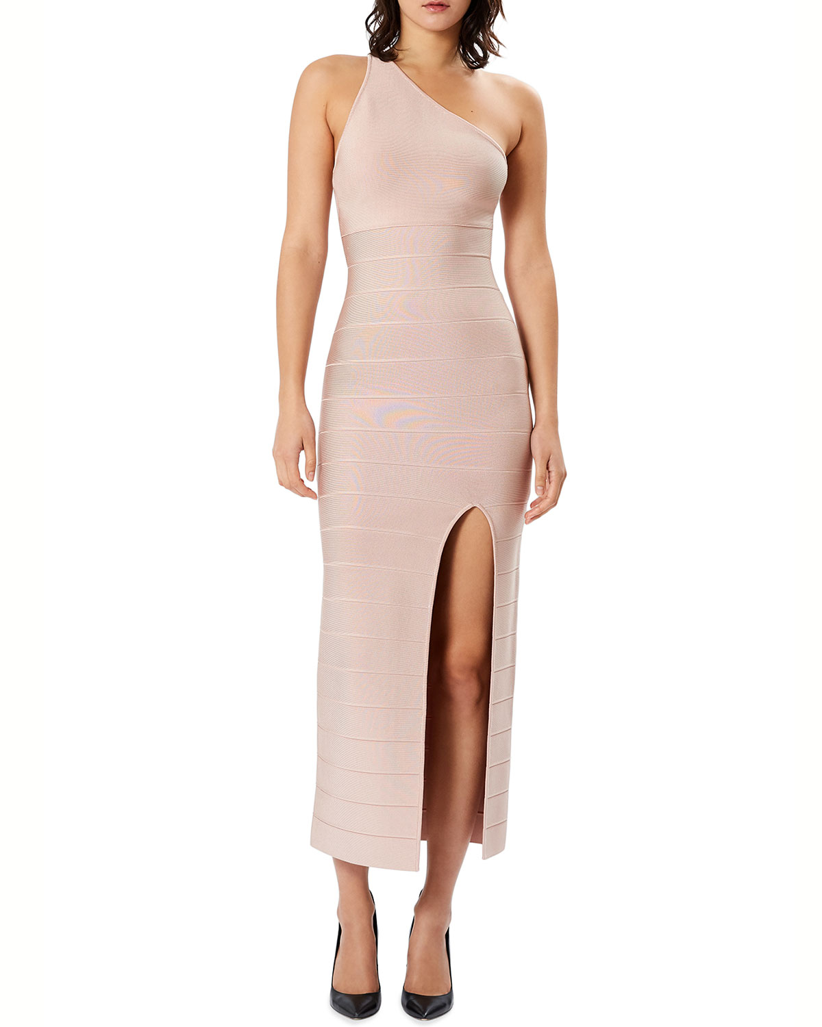 Icon One-Shoulder Midi Gown
