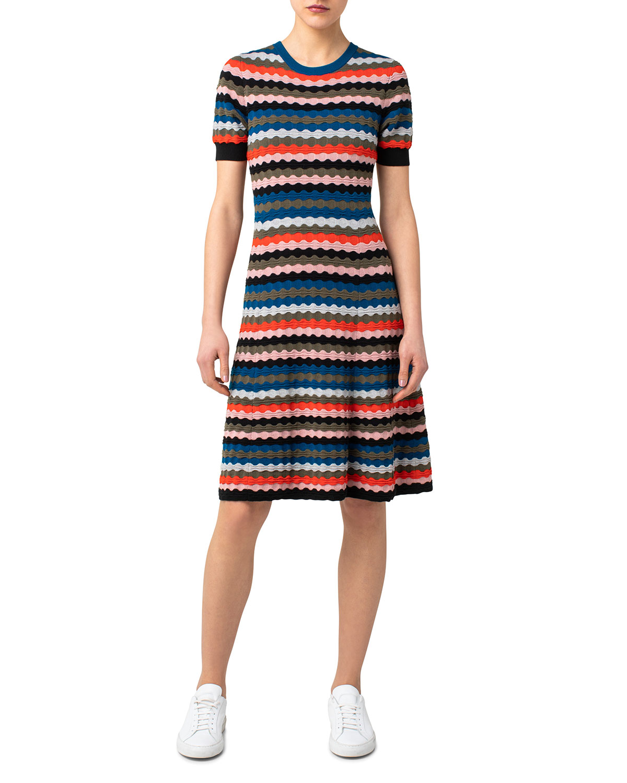Scottish Highlands Striped A-Line Dress