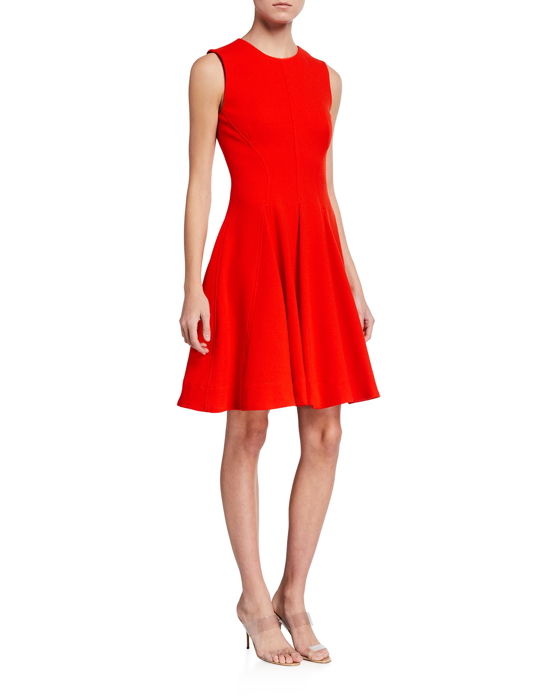 Crepe Fit-&-Flare Dress