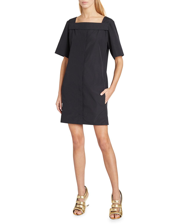 Givenchy Cottons SQUARE-NECK SHIFT COTTON DRESS