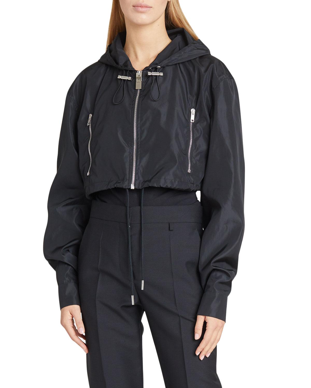 Givenchy Jackets CROPPED WIND-RESISTANT LOGO JACKET