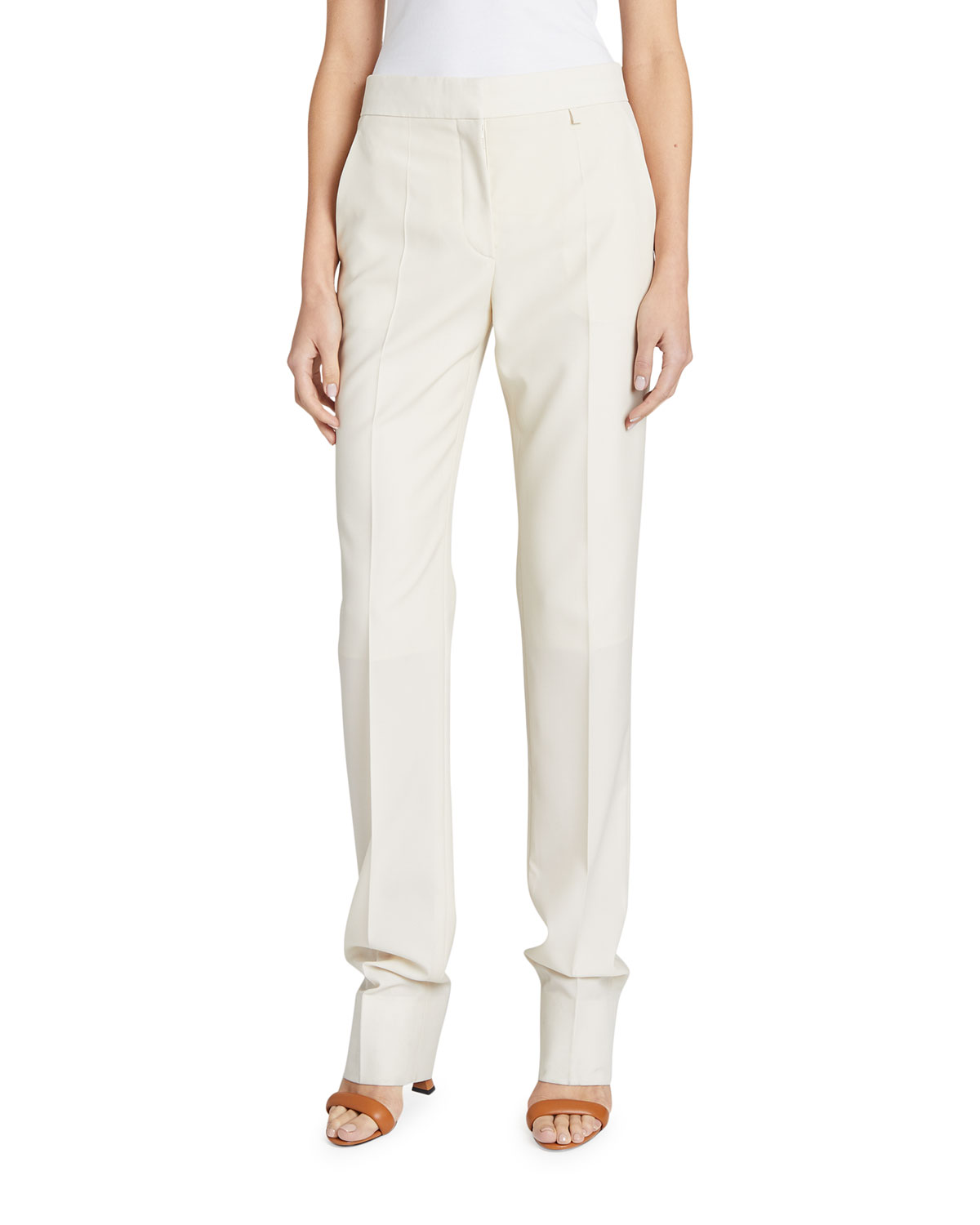 Givenchy Wools 18 GG HIGH-WAIST TAPERED TROUSERS