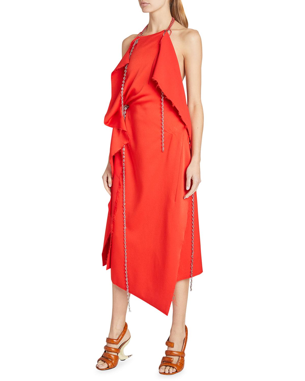 Givenchy ASYMMETRIC MID-LONG DRAPED DRESS