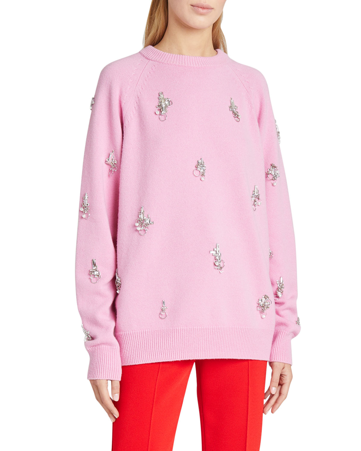 Givenchy Knits 7GG PIXEL EMBROIDERED SWEATER