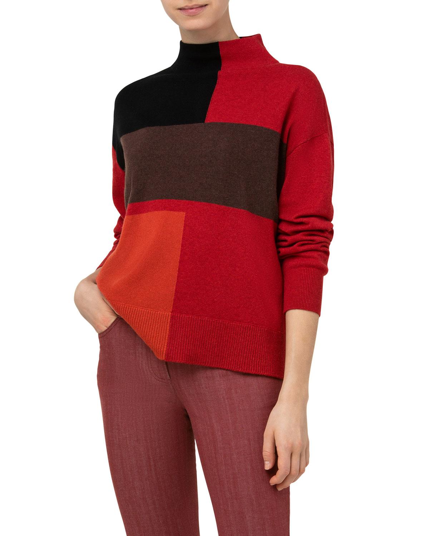 Colorblock Cashmere Oversized Sweater