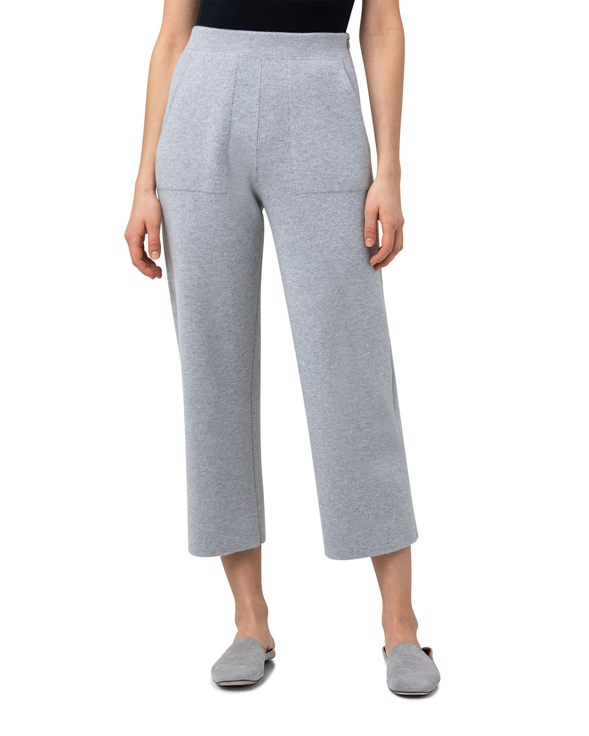 Cropped Cashmere Pants