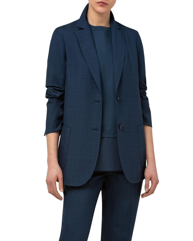 Seersucker Plaid Silk Jacket