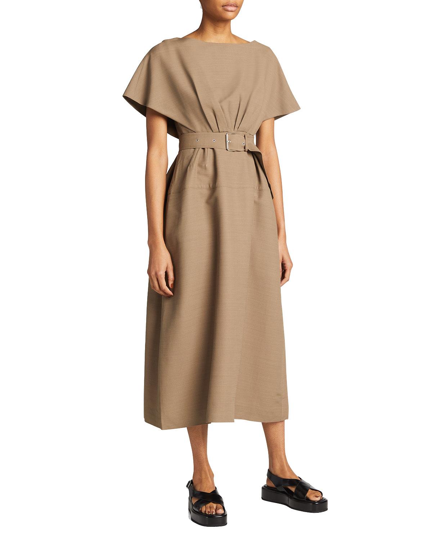 se Belted Midi Dress
