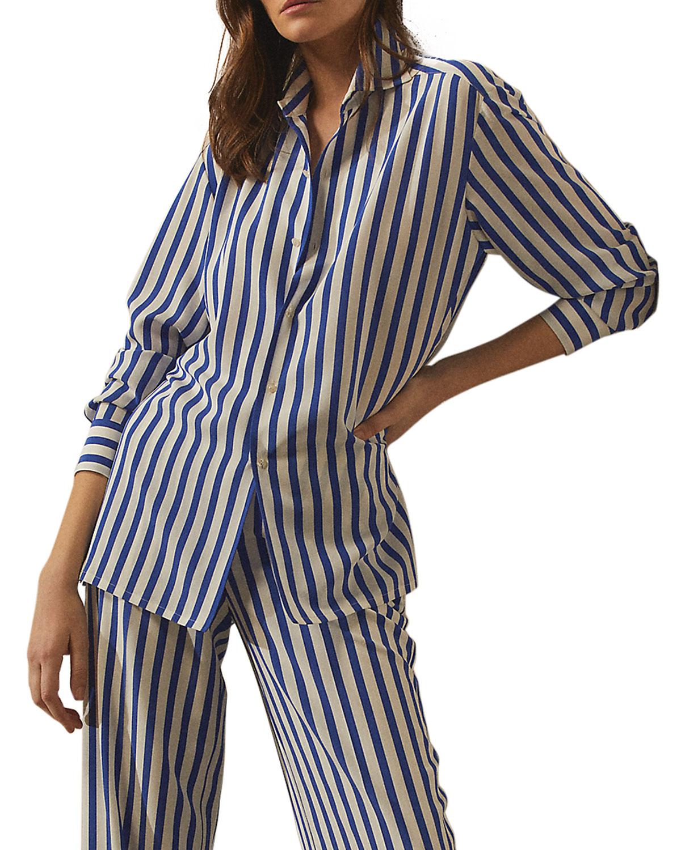 "Ralph Lauren Shirts CAPRI"" STRIPE-PRINT SHIRT"""